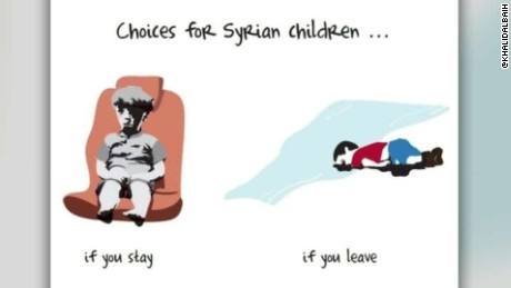 syrian toddler omran cartoonist khalid albaih walker interview_00003304.jpg