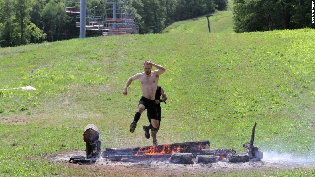 Fire jump is another classic Spartan test.