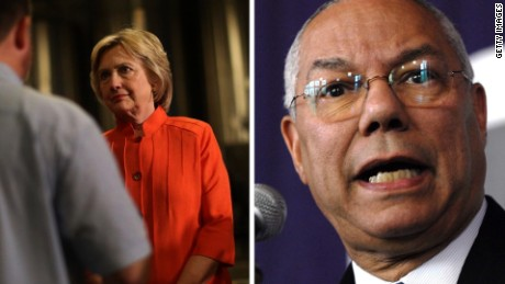Powell: Clinton camp trying to 'pin it on me'