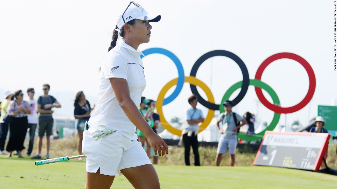 "The world's No. 1 golfer, Lydia Ko of New Zealand, <a href=""http://www.cnn.com/2016/08/19/golf/lydia-ko-day-three-golf-rio-2016-olympics/index.html"" target=""_blank"">made a hole-in-one during a third-round 65.</a> She is two shots back of Inbee Park going into the final round Saturday."