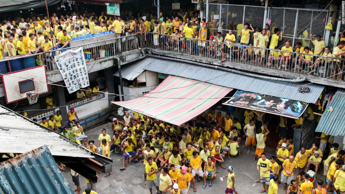 Quezon City jail, just outside the capital Manila, is home to over 4,000 inmates.