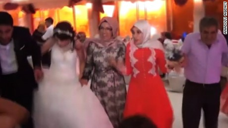 Video shows explosion rock wedding party