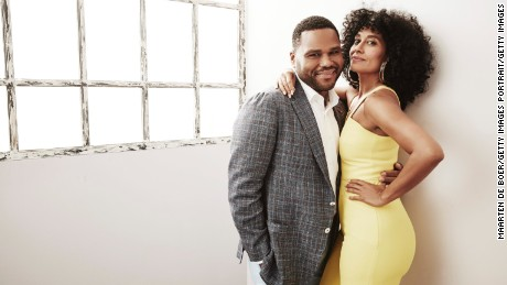 Anthony Anderson and Tracee Ellis Ross from 'black-ish' pose for a portrait at the 2016 Summer TCAs on August 4, 2016 in Beverly Hills, California.