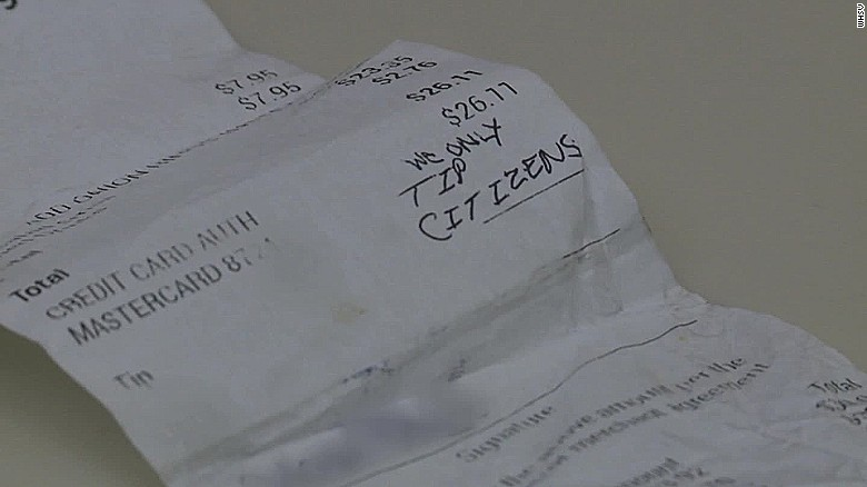 Couple leave hateful message to waitress PKG_00001803