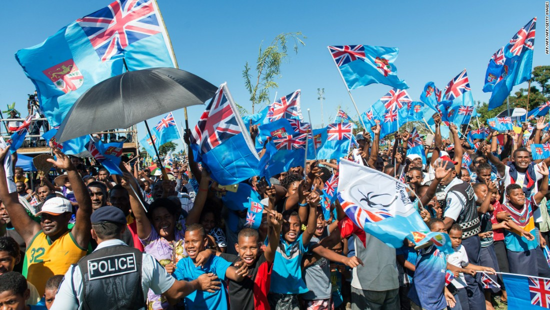 Thousands of Fijians turned out to greet the men's rugby sevens team which returned home with Olympic gold.