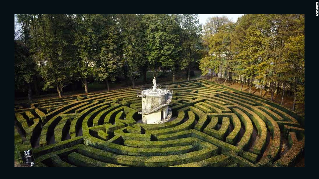 Local legend has it that Napoleon Bonaparte -- a previous owner of Villa Pisani -- once got lost in this garden's famous maze. Built in the 18th century and one of the few remaining hedge mazes in Italy, the boxwood labyrinth is constructed from twelve concentric rings and leads to a small turret in its middle.