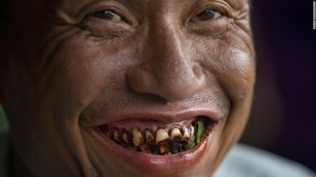 """Other countries are also trying to curb the habit. In Myanmar, the government has ordered all employees <a href=""""http://www.mmtimes.com/index.php/national-news/20705-govt-takes-aim-at-betel-chewing.html"""" target=""""_blank"""">not to chew betel during office hours</a> and has started a campaign to remove betel vendors from public places, including those popular with tourists."""