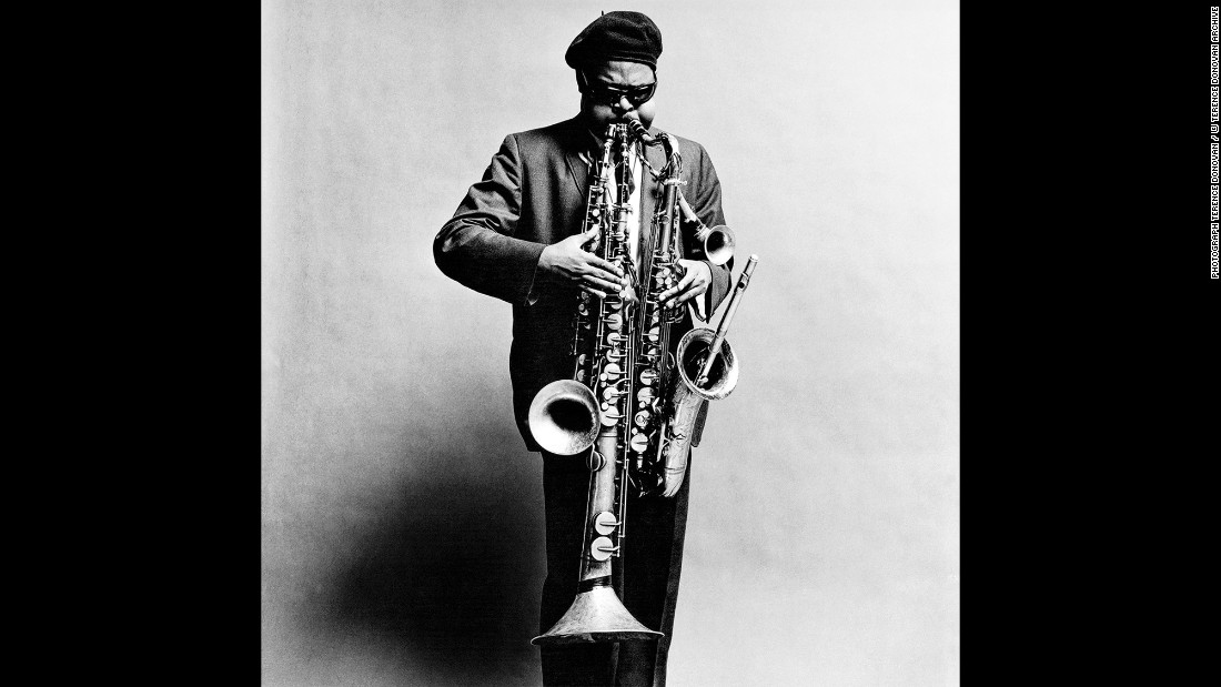 "Rahsaan Roland Kirk, a jazz multi-instrumentalist, in September 1963. During Donovan's career, the photographer was highly sought after for his obvious range and skill. ""He was completely and utterly dedicated to photography,"" Diana Donovan said."