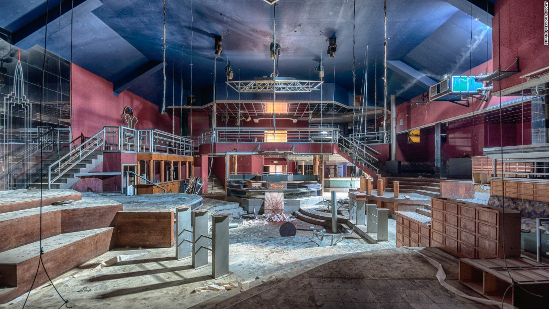 Dutch photographer Brian Precious photographs abandoned sites across Europe, including this derelict disco in Belgium.