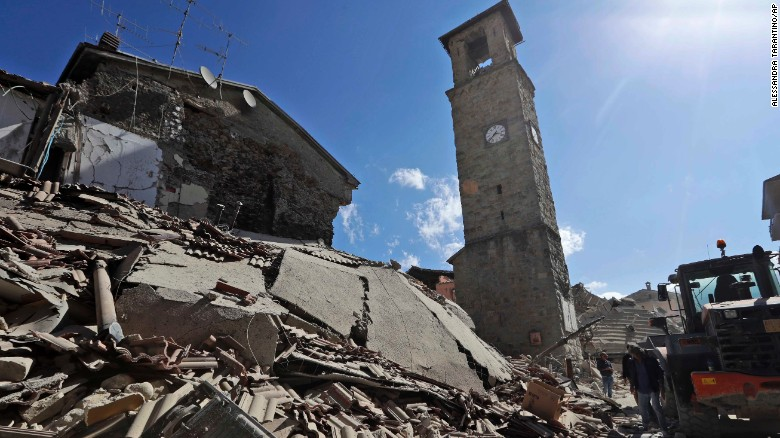 Rescuers search for survivors in Italy after earthquake