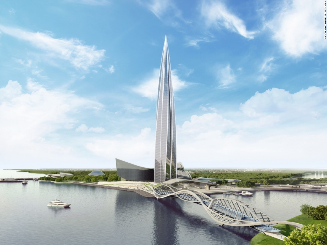 Designed by British architect Tony Kettle in conjunction with Gorproject, the tower has a projected height of 462 meters (1,516 feet) and is due to be completed by the end of 2018.