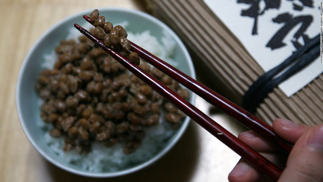 The steamed fermented soybeans have a pungent aroma, slimy texture and unique taste that people either love or hate.