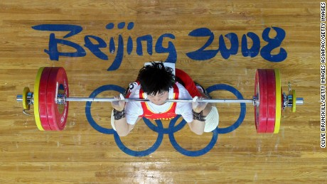 Liu Chunhong of China competes at the 2008 Olympic Games in Beijing, China.