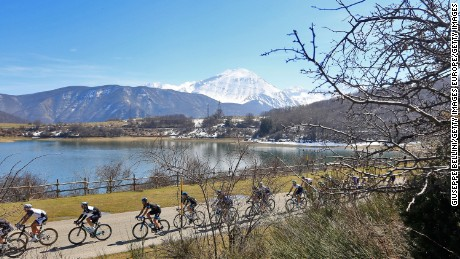 The Ti Tirreno Adriatico cycle race goes through picturesque Amatrice.