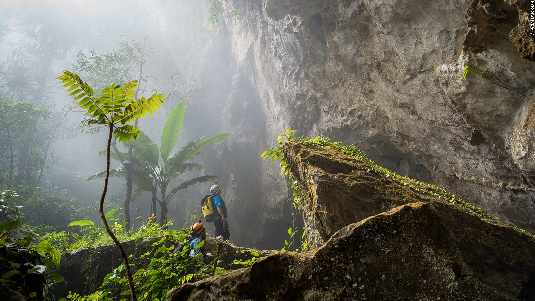 Hang Son Doong is so massive that it contains its own jungle, underground river and localized weather system. Clouds form inside the cave and spew out from the exits and dolines, which gave the first explorers a clue as to how large Hang Son Doong really is.