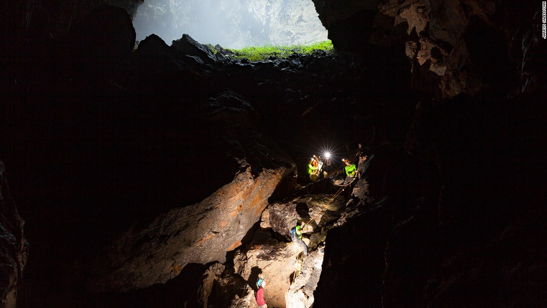 Sections of Hang Son Doong are so steep and perilous that ropes are required to help lower people safely through them.