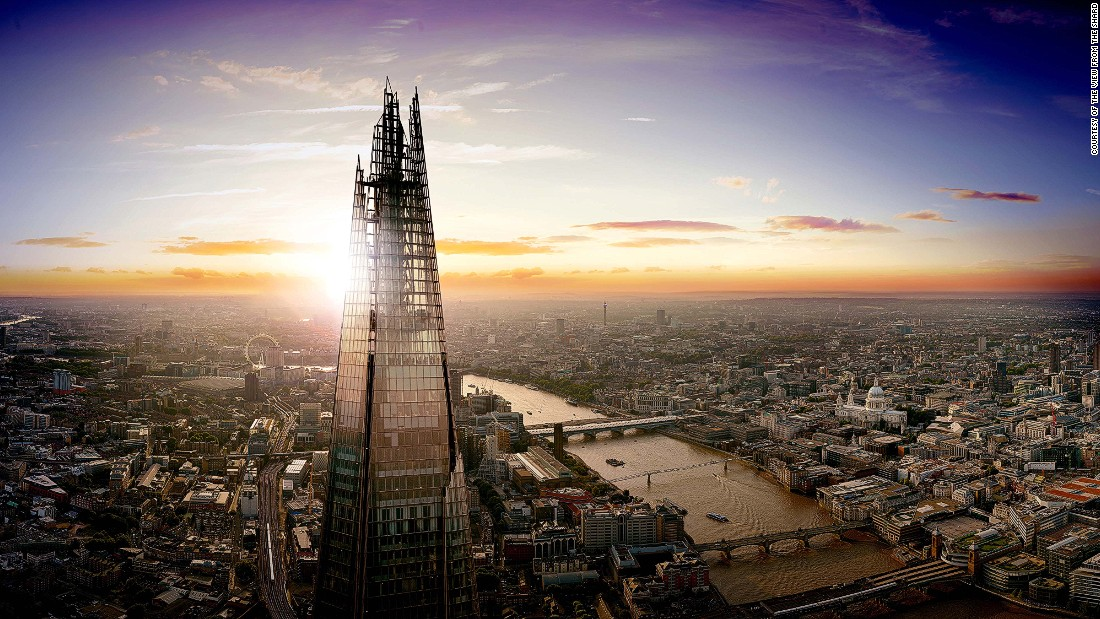 Renzo Piano's Shard towers over London's skyline as the tallest building in Western Europe. The 306-meter (1004-foot) skyscraper will open up its viewing platform on Level 72 -- 244 m (801 ft) above ground -- for 50 people a day, chosen via a public ballot.