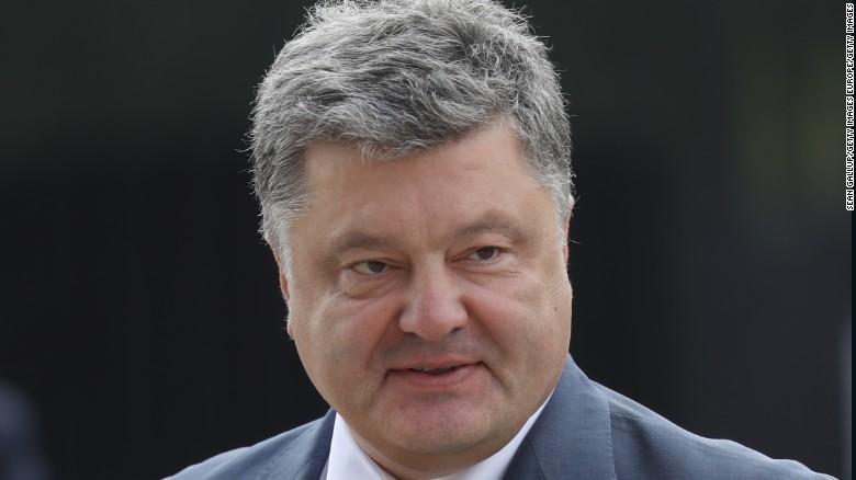 President Petro Poroshenko, pictured in July, said Ukraine was building its air defense capabilities.