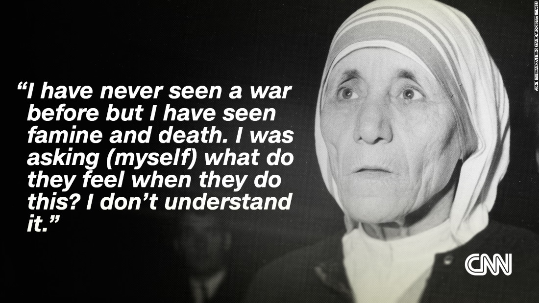 project on mother teresa in english