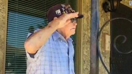 WWII vet honored at home