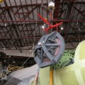 SOFIA NASA 747 observatory telescope loading