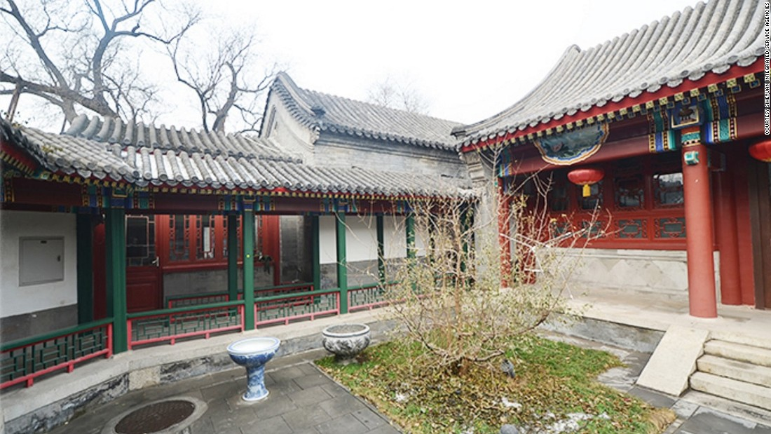 This private residence, located in the Dongcheng district of Beijing,  is a traditional 'Siheyuan' type of residence where the courtyard is the center of the house. Siheyuan houses on the market range from a few hundred thousand dollars to multi-million dollar properties.
