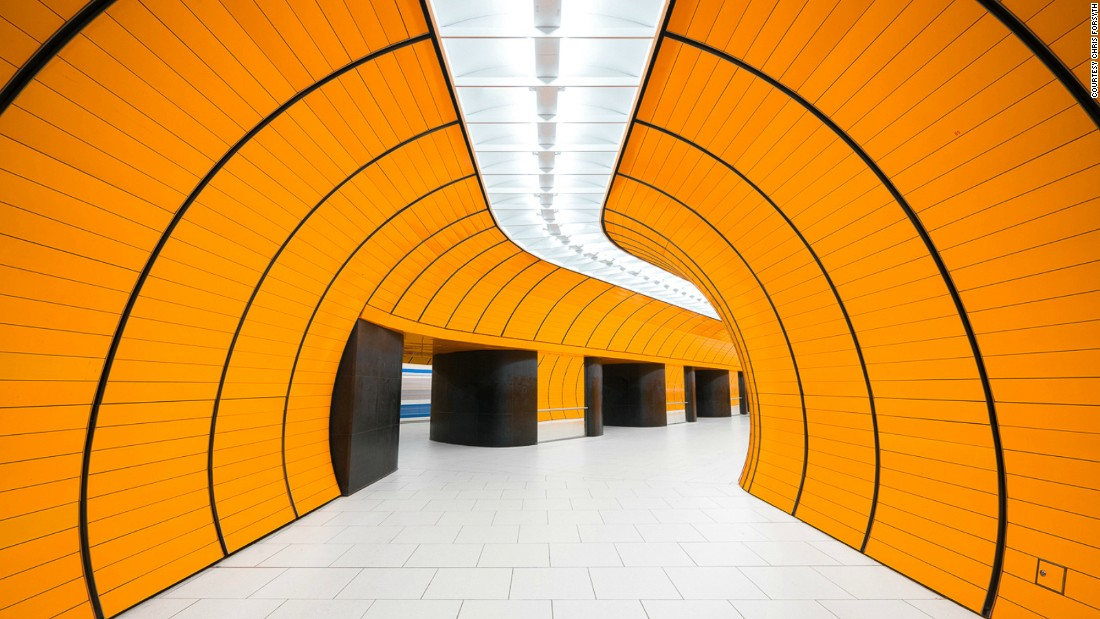 Photographer Chris Forsyth wants us to appreciate the everyday beauty in our transit systems. He's spent two years photographing overlooked underground architectural masterpieces. Pictured: Marienplatz, Munich. <br />