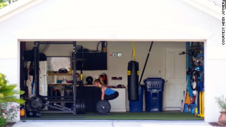 Dana Santas and her family built their home gym as a collaborative effort.