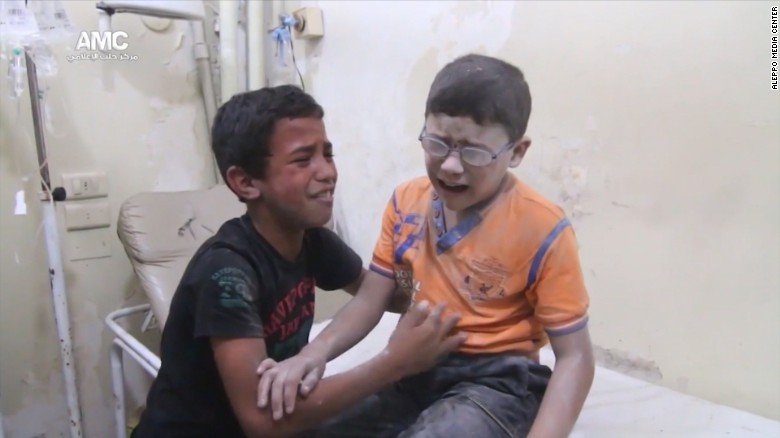 War a daily routine for Aleppo's youngest victims