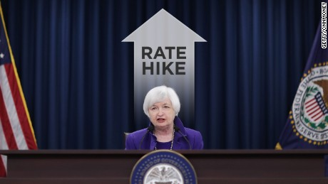 cnnmoney janet yellen rate rise
