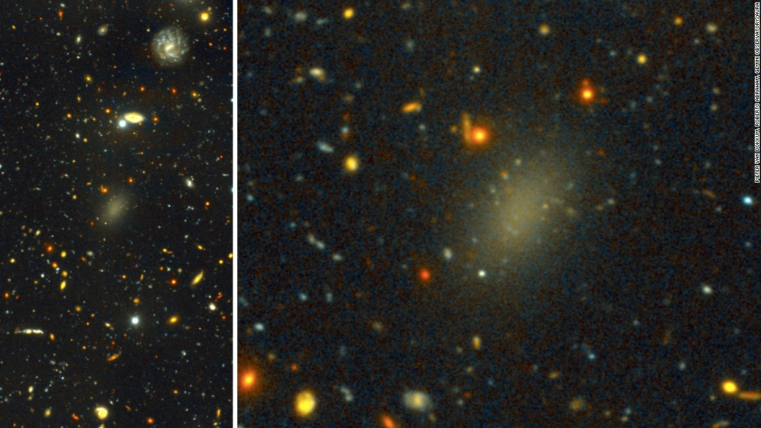 Say hello to dark galaxy Dragonfly 44. Like our Milky Way, it has a halo of spherical clusters of stars around its core.