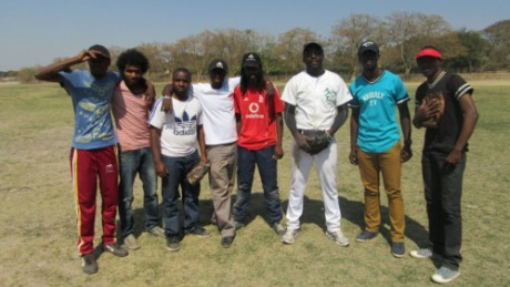 Former players from the Zambian National team came out to help coach.