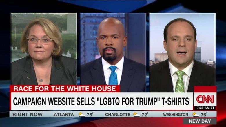 """Trump campaign website sells """"LGBTQ for Trump"""" t-shirts_00053029"""