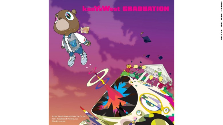 "Kanye West's ""Graduation"" album cover art was created in collaboration with artist Takashi Murakami"