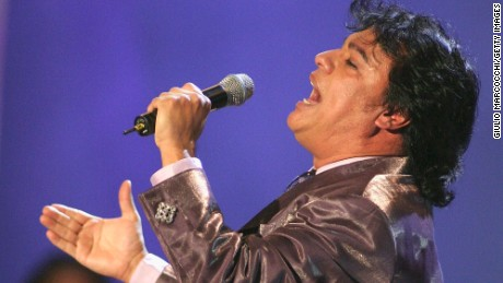 "Juan Gabriel performs at the ""el Premio de la Gente 2003"" Latin Music Fan Awards at the Mandalay Bay Hotel on October 16, 2003 in Las Vegas, Nevada."