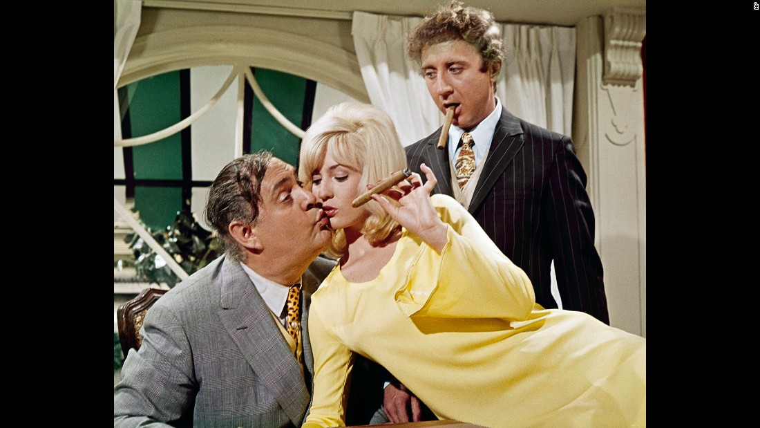 "Wilder -- at right with Zero Mostel and Lee Meredith -- was the stressed-out Leo Bloom in Mel Brooks' breakout film, ""The Producers"" in 1968. He was nominated for an Academy Award for best supporting actor."