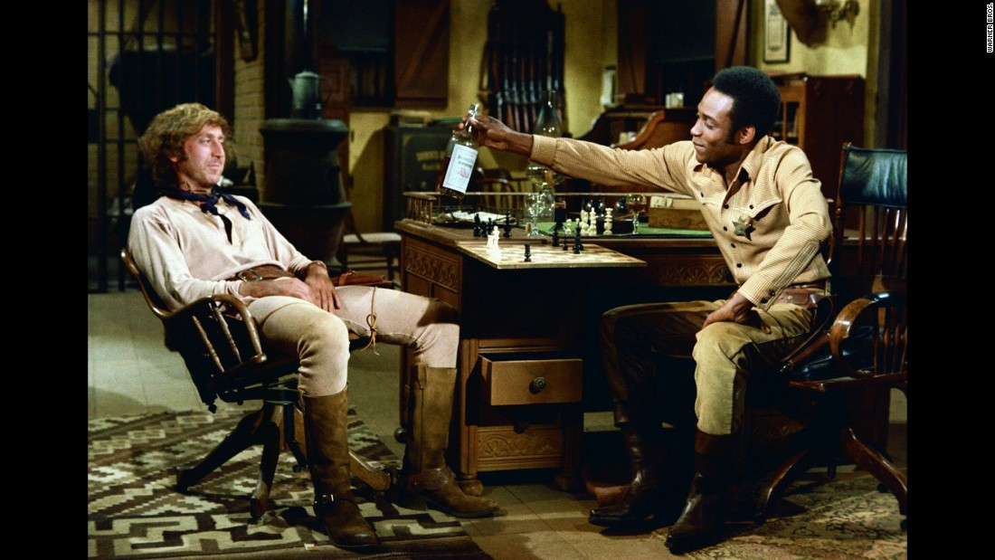 "Wilder, seen here with Cleavon Little, was back with Brooks for 1974's ""Blazing Saddles."" In a statement to CNN on Monday, Brooks called Wilder ""one of the truly great talents of our time. ... He blessed every film we did together with his special magic. And he blessed my life with his friendship."""