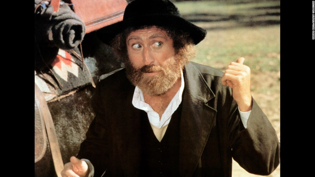 "Wilder played a rabbi in the 1979 comedy ""The Frisco Kid."""