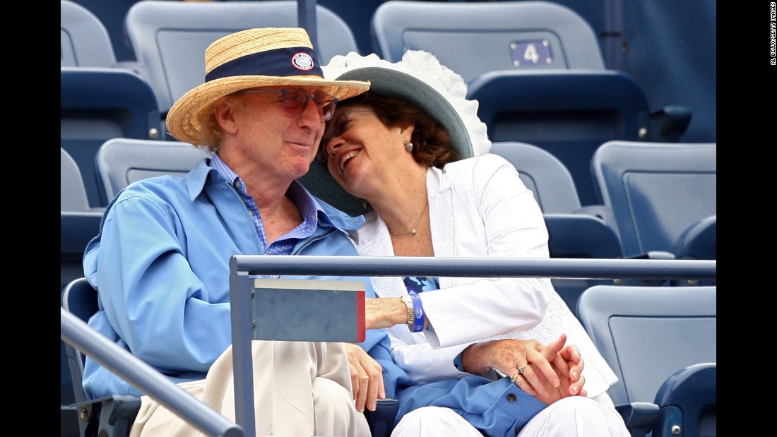 Wilder and his wife, Karen, attend a U.S. Open tennis match in 2007.