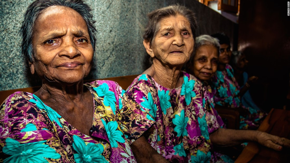 "Women at the Home for the Dying and the Destitute. ""I found seeing simple, everyday acts done with such care and support from the sisters really overwhelming,"" Gautam says."