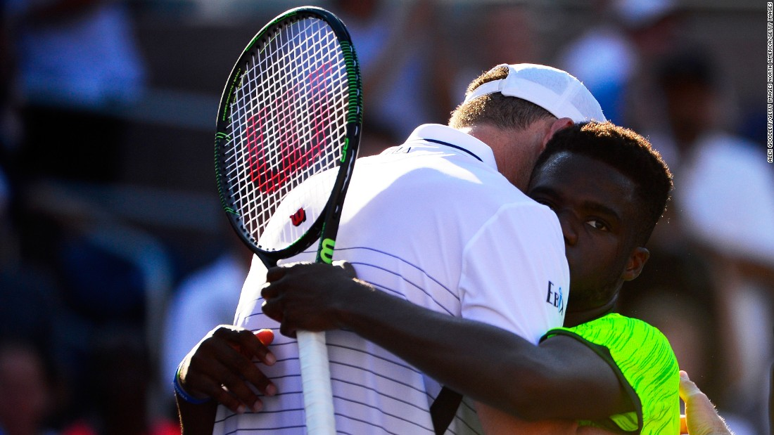 "Eighteen-year-old American Frances Tiafoe fell agonizingly short of sending 20th seed John Isner hurtling out of the tournament. ""It hurts, it hurts a lot,"" Tifaoe told reporters, having served for the match in the fifth set."