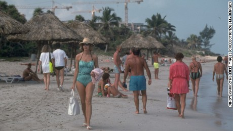 Then: Varadero Beach, east of Havana, saw a wave of development with the return of foreign tourists in the 1990s.