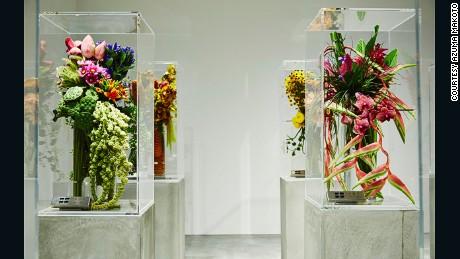 Azuma's Tokyo flower shop is located underground