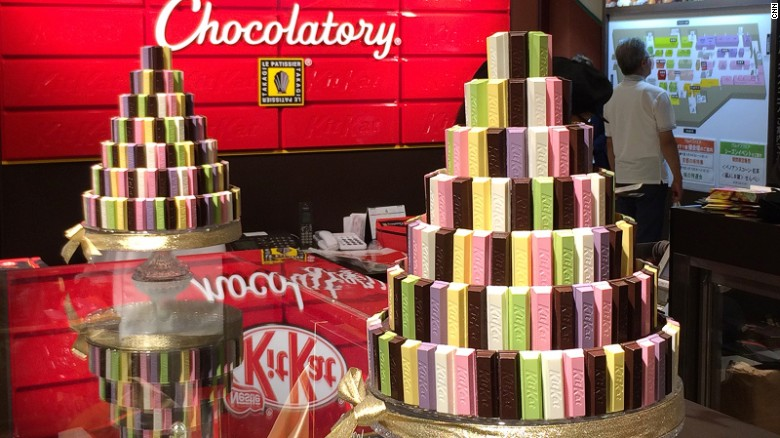 More than 300 flavors of KitKat have gone on sale in Japan since the chocolate snack was introduced. It's now one of the country's best-loved candy bars.
