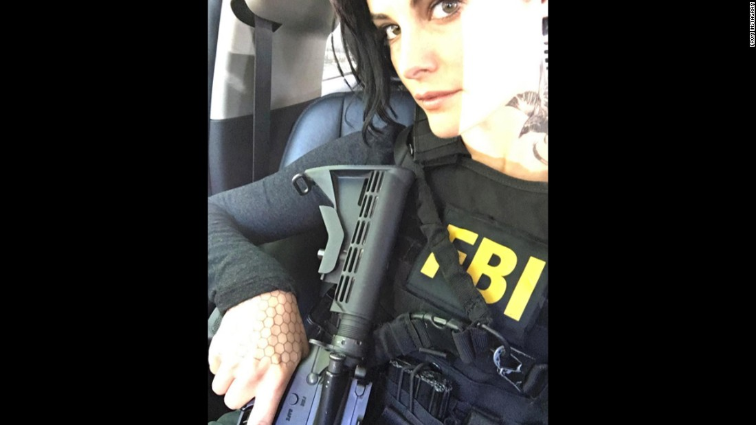 """Actress Jaimie Alexander takes a selfie while filming her TV show """"Blindspot"""" on Tuesday, August 23. """"Back at it,"""" <a href=""""https://www.instagram.com/p/BJdQysRhJfT/"""" target=""""_blank"""">she said on Instagram.</a>"""