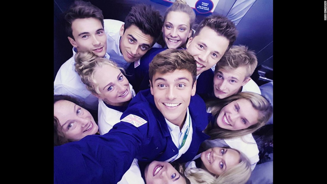 "Olympian Tom Daley takes a selfie with other members of the British diving team on Friday, August 5. ""All dressed up in our opening ceremony gear, ready to watch from the village,"" <a href=""https://www.instagram.com/p/BIvwa56ju-n/"" target=""_blank"">he said on Instagram.</a> <a href=""http://www.cnn.com/2016/07/27/entertainment/gallery/look-at-me-selfies-july/index.html"" target=""_blank"">Must-see selfies from July</a>"
