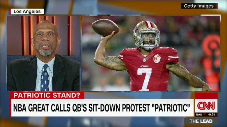 NBA great calls Kaepernick's protest 'patriotic'