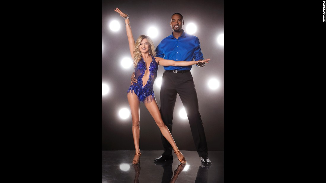 Pro dancer Lindsay Arnold and former football player Calvin Johnson.