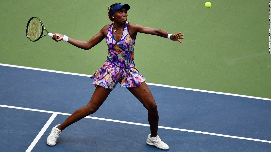 Venus Williams, however, was made to work hard for her victory over Kateryna Kozlova of Ukraine eventually winning through 6-2 5-7 6-4.