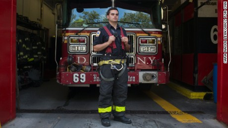 Tommy Palombo is assigned to Engine 69 in Harlem. His fellow firefighters say he's one of the best newcomers they've had.